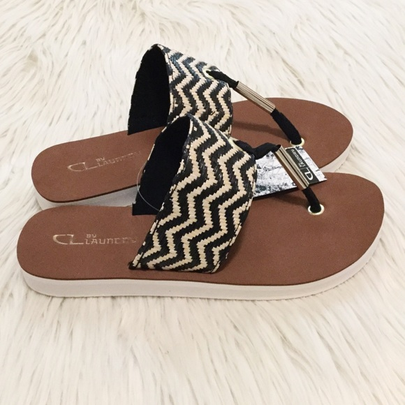 e50763b3 CL by Laundry Shoes | Zig Zag Raffia Flip Flops | Poshmark